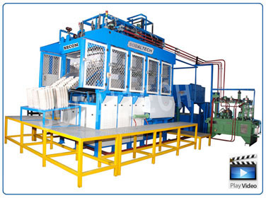 dry moulding machinery, pulp thermoforming machinery, cure on moulding machinery, pulp fine moulding machine